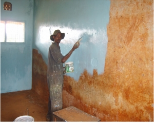 Working painting the sunday school classroom