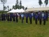 Brigade members on parade