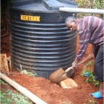 Ground work and installation of new tank